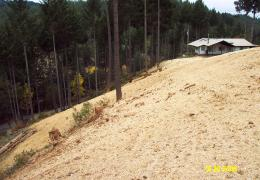 After: Hillslopes have been re-contoured to restore natural drainage patterns