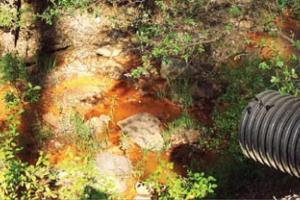 Contaminated segment of Las Tablas Creek