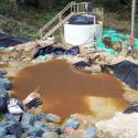 Emergency sediment retention structures implemented at the landfill toe, December 2005