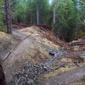 After: The stream crossing  has been excavated while retaining a low-impact trail corridor
